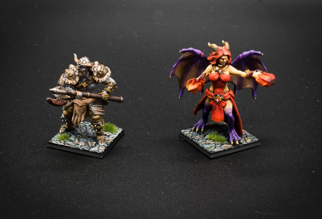 dungeons and dragons miniatures barbarian wizard